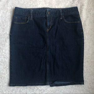 Ann Taylor Loft Denim Pocketed Skirt